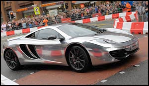 Jenson Button in McLaren MP4-12c